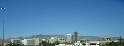 Panorama of Tucson downtown, AZ Stock Photography