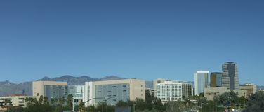 Panorama of Tucson downtown, AZ Stock Photos