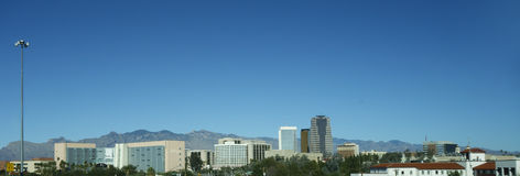 Panorama of Tucson downtown, AZ Royalty Free Stock Image