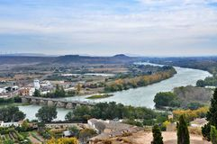 Panorama Tudela, España Fotos de archivo