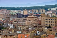 Panorama Tudela miasto w Navarra, Hiszpania Zdjęcie Royalty Free