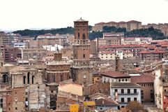 Panorama of Tudela, Spain Stock Photography