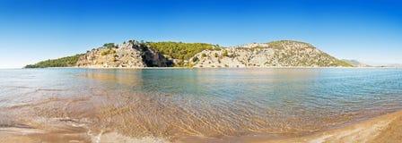 Panorama turco del mare Fotografie Stock