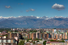 Panorama of the Turin, Italy Royalty Free Stock Photo