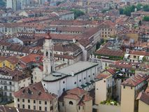 Panorama of Turin in Italy Royalty Free Stock Photo
