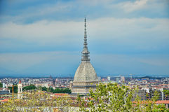 Panorama of Turin with Mole Antonelliana Royalty Free Stock Photography