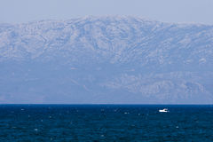 Panorama on the turkish aegean sea Stock Photography
