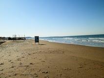Panorama of turkish beach in Antalya stock photo