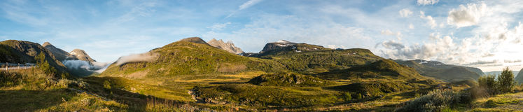 Panorama turtagro. Panorama Picture of Turtagrø in Norway Stock Photos