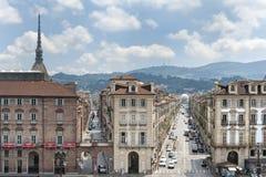 Panorama Turyn, Włochy Zdjęcie Royalty Free