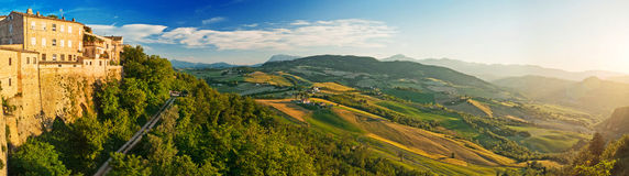 Panorama of the Tuscany, Italy Royalty Free Stock Photos
