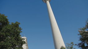 Panorama TV tower in Berlin stock video footage