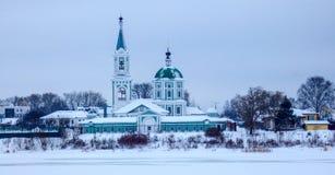 Panorama of Tver, ancient Russian city.  royalty free stock photos