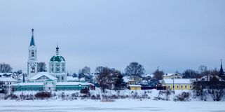 Panorama of Tver, ancient Russian city.  royalty free stock images