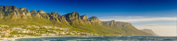 Panorama of the Twelve Apostles in South Africa stock image