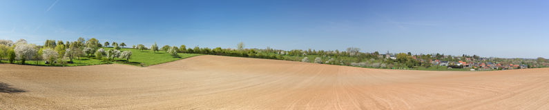 Panorama of a typical Hesbaiean landscape Stock Photography