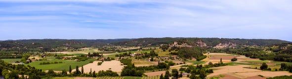 Panorama typique de Périgord dans les Frances Images stock