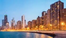 Panorama U.S.A. di Chicago Fotografia Stock