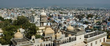 Panorama of Udaipur city, view from city palace ,Rajasthan,India Stock Images