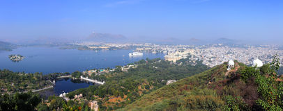 Panorama of Udaipur India Royalty Free Stock Photos