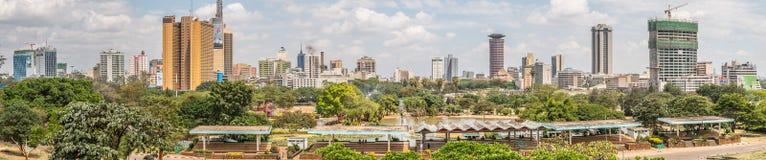 Panorama of uhuru park in nairobi, kenya stock images