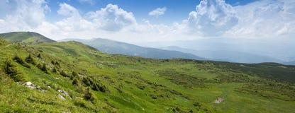 Panorama of Ukrainian Carpathians Stock Image
