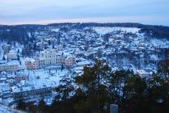 The panorama of the Ukrainian city Kremenets royalty free stock photography