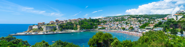 Panorama of Ulcinj Stock Image