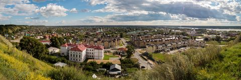 Panorama of under-mountain part of Tobolsk City royalty free stock image