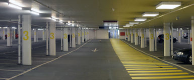Panorama of underground parking Stock Image