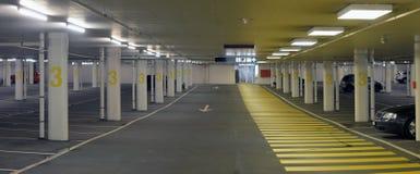 Panorama of underground parking Stock Photo