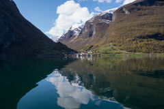 Panorama of Undredal, Norway Stock Photo
