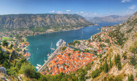Panorama-UNESCO-Schacht von Kotor, Stockfotografie