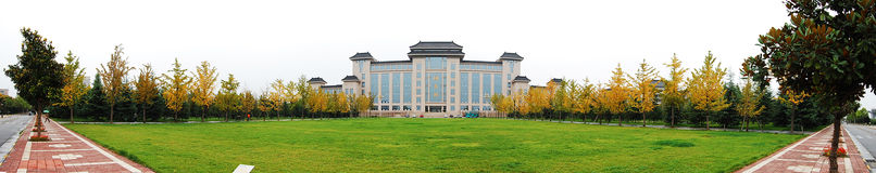 Panorama of a university library Royalty Free Stock Image
