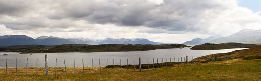 Panorama of unspoilt nature in Patagonia near Ushuaia Stock Image