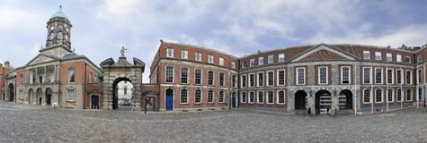 Panorama Upper Yard of Dublin Castle Royalty Free Stock Photo