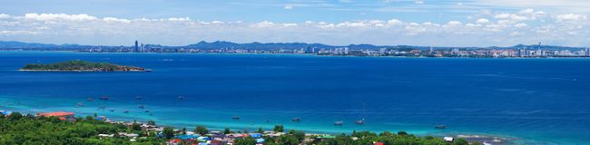 Panorama ura sea on Koh Larn Stock Image
