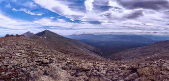 Panorama of the Ural mountains. Ural mountains tulymsky stone Royalty Free Stock Images
