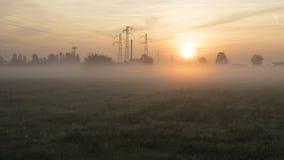 Panorama urbain de lever de soleil Image libre de droits
