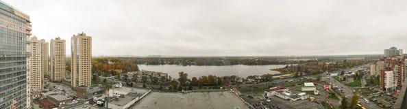 Panorama urban residential area Stock Image