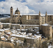 Panorama of Urbino stock photos