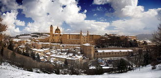 Panorama of Urbino royalty free stock photo