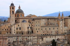 Panorama of Urbino Stock Photography