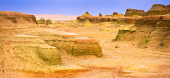 Panorama, Urho Ghost Castle, Xinjiang China Stock Images