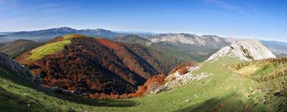 Panorama of Urkiola Natural Park Stock Photo