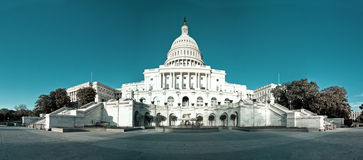 Panorama of the US Capitol Building Dome Stock Images
