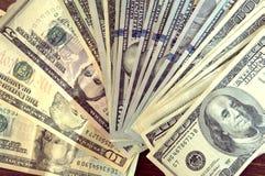 Panorama USA dolarów banknotów tekstura Tekstury USA dolary Tło różni mili dolarowi rachunki, zdjęcia royalty free