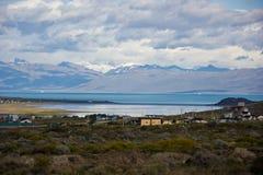Panorama in Ushuaia/in Südamerika/in Argentinien lizenzfreies stockbild
