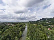 Panorama Ustron w Polska zdjęcie stock