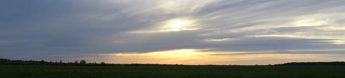 Panorama- vårlandskap Royaltyfria Bilder